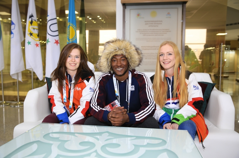 Student athletes at Athletic Village, Almaty 2017