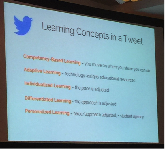 Slide listing learning concepts in Tweet