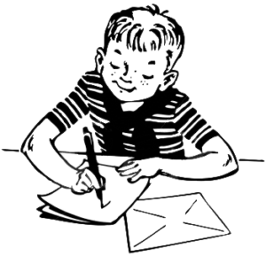 Boy Writing Leetter